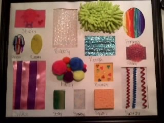 Texture board i made for my goddaughter
