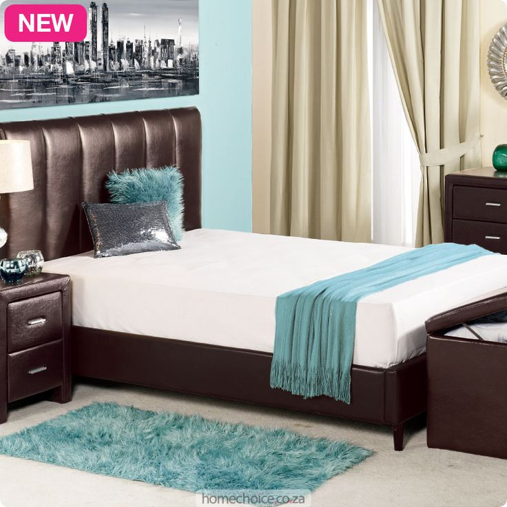 Ivana bedroom furniture set from R3299 cash or only R329 a month! Shop http://www.homechoice.co.za/Furniture/mattresses-base-sets/Ivana.aspx
