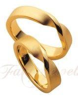 S034 14k Sárga arany karikagyűrű pár