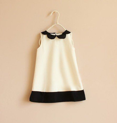Baby clothes girl colour blocked dress A line dresses free shipping-in Dresses…