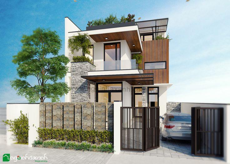 Kiến trúc hiện đại. Các công trình do Ngôi Nhà Xanh thi công trọn gói - 4.5tr/m2