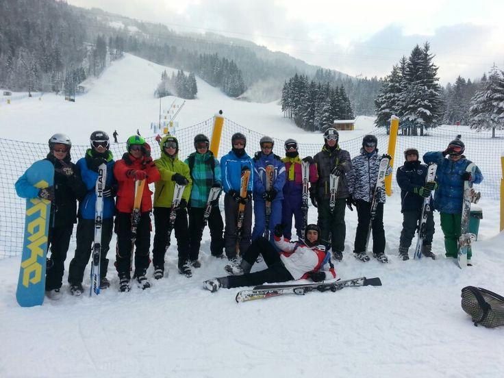 29/01/2014 ~ Gita di 5 giorni a Tarvisio | Qui eravamo tutti insieme sulle piste da scii