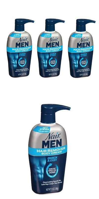 Hair Removal Creams and Sprays: 3 Pack - Nair Men Hair Removal Body Cream 13 Oz (368 G) Each BUY IT NOW ONLY: $32.39