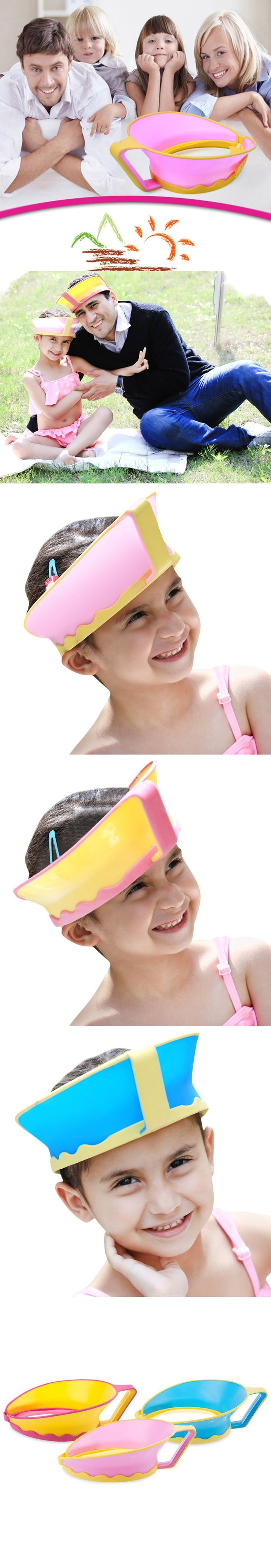 HOT Sale Baby Shower Hat Adjustable kids Waterproof Hair Wash Shield Shampoo Cap For Children Babies Care Protection