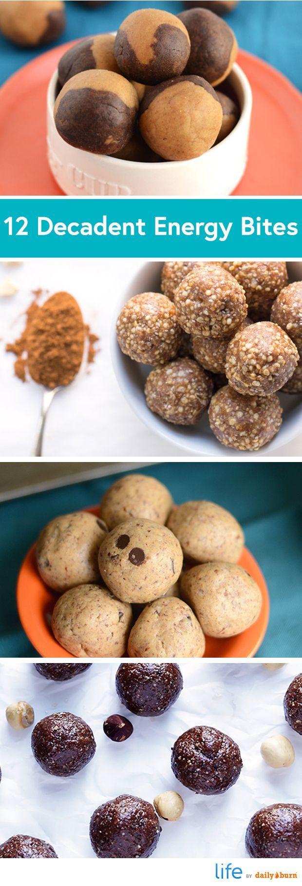 12 Healthy Energy Bites Recipes That Taste Like Dessert (via Daily Burn)