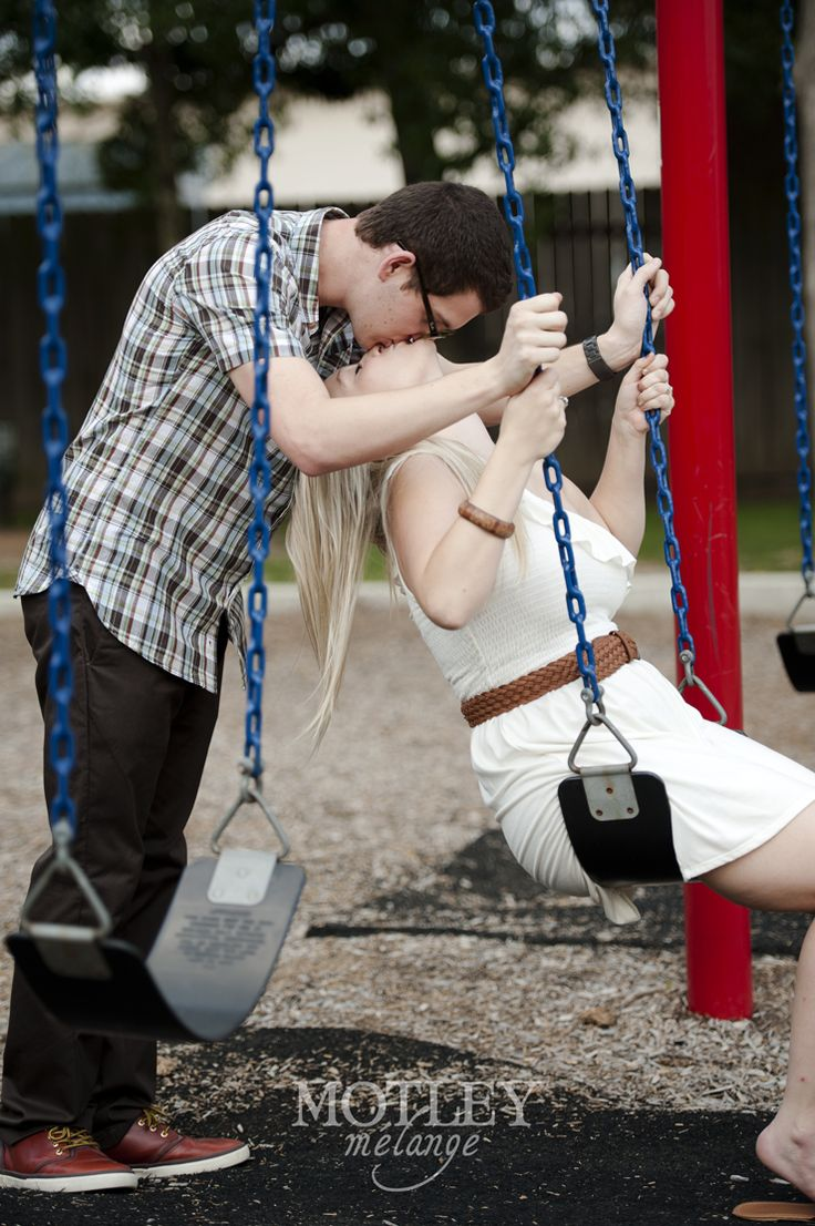 Not kissing.... but like the swing.s we have a new playground in curtis park and like the colors