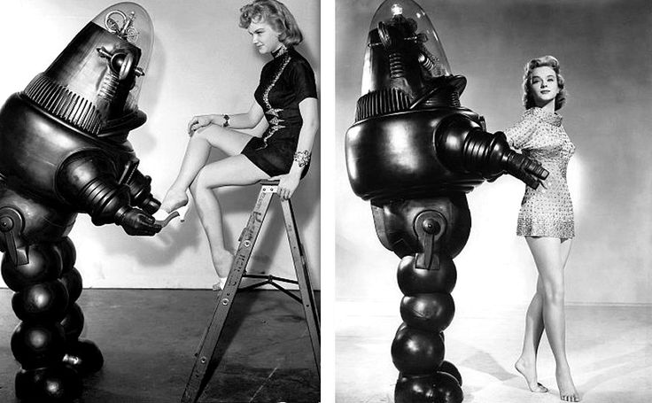 "Robbie the Robot as first introduced in ""The Forbidden Planet"" as another faithful servant droid."