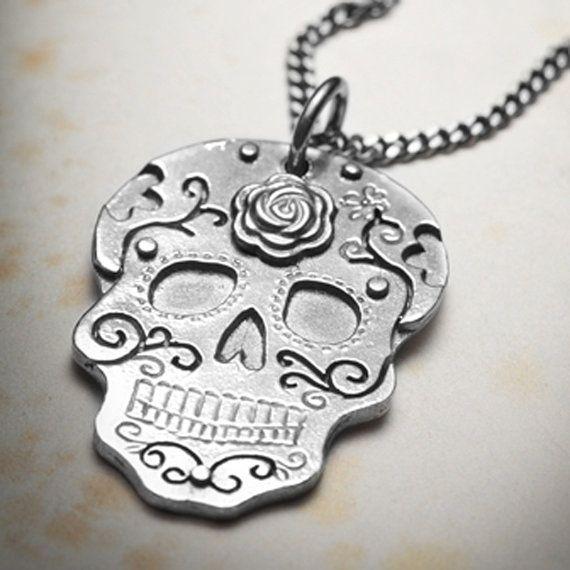 SUGARSKULL necklace by missyindustry on Etsy, $94.00