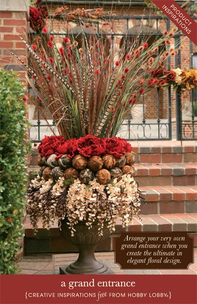 Hobby Lobby Project - A Grand Entrance - front porch, sprays, planting urns, - 73 Best Images About Church Planter, Lobby On Pinterest Gardens