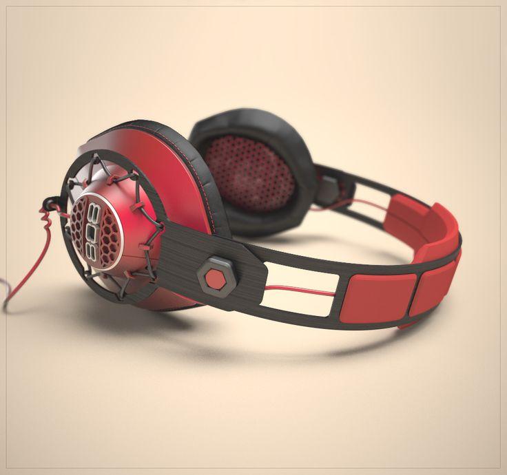 Headphones Design for 808 Audio, 2014 3D model