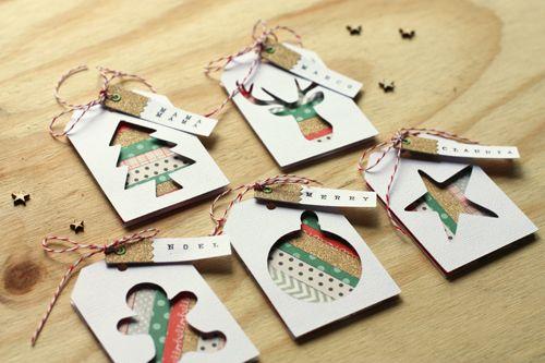 Inspiration: washi tape Christmas gift tags.