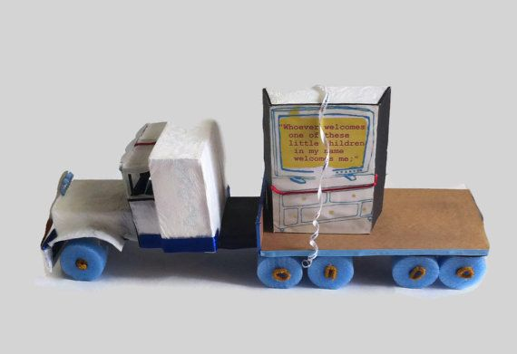 Diaper truck & TRAILER with TV bible verse, big truck, Christian shower, by Christianscraft, $325.00