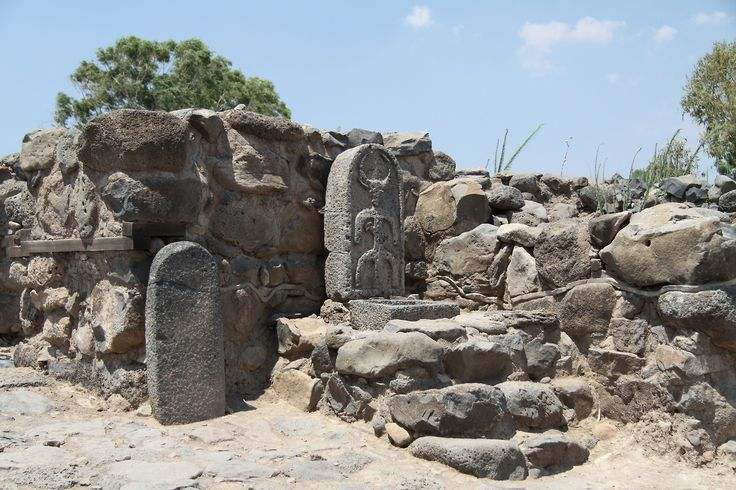 Ruins of fishing village Bethsaida, located on the north shore of the Sea of Galilee, Israel. This site is mentioned in the New Testament of the Bible, and is said to be the birthplace of three of the Apostles; Peter, Andrew and Philip. Also according to the Bible, Bethsaida is the location where Jesus performed two of his miracles -the first feeding of the Multitude and healing a blind man (Mark 8:22-26; Luke 9:10).  Photos courtesy & taken by Chmee2.