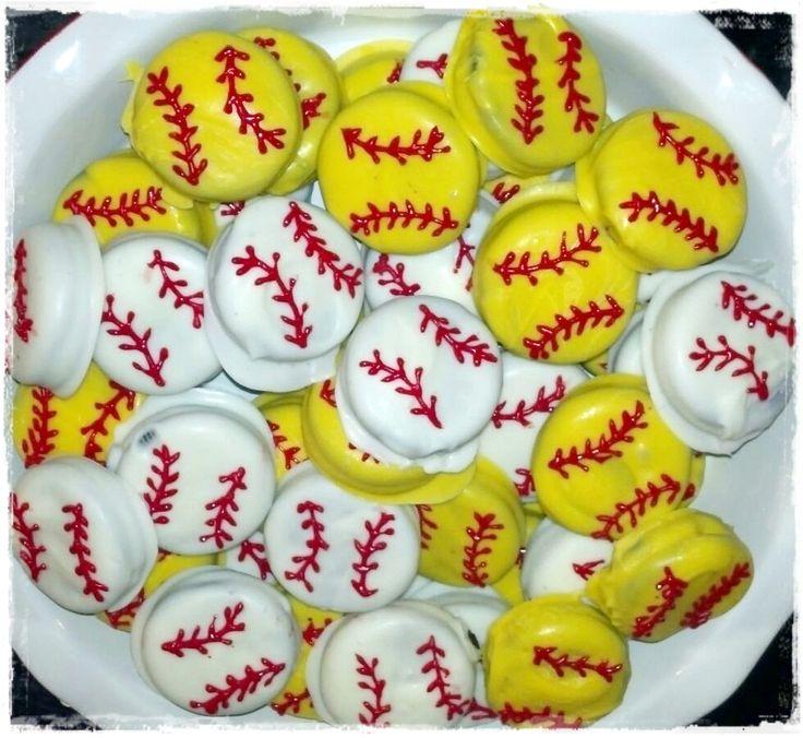Chocolate Covered Oreo Baseball and Softballs