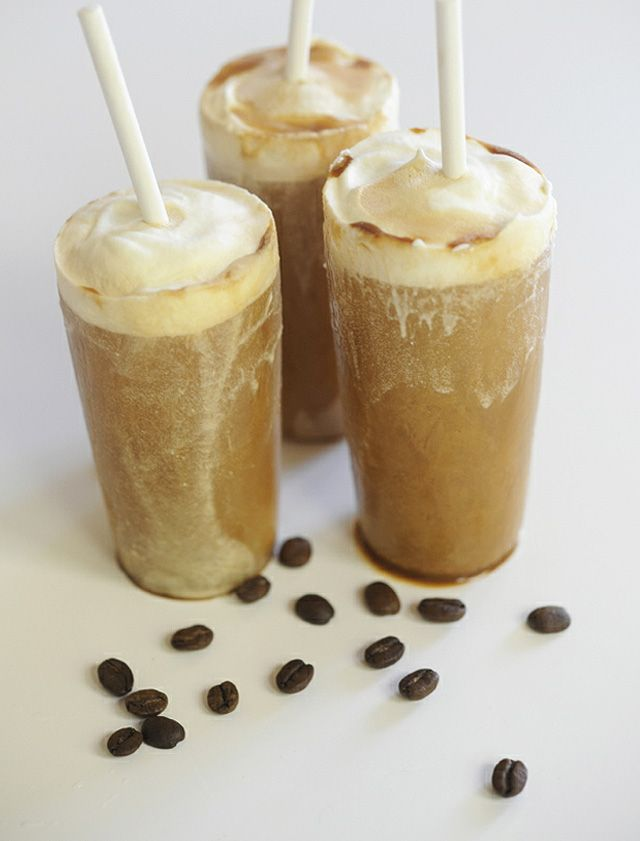Cappuccino Pops, delicious iced pops made primarily with freshly brewed espresso, sweetened condensed milk, and whipped cream.