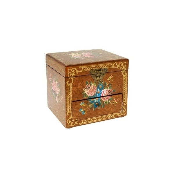 Handpainted Victorian Vanity Box at Past Times (175 BRL) ❤ liked on Polyvore featuring home, home decor, small item storage, boxes, decor, fillers, stuff, accessories, victorian boxes and victorian home decor