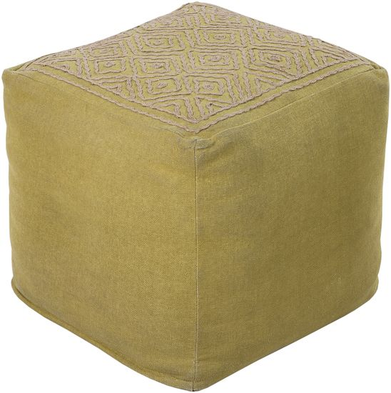 Surya Indoor Pouf From The Surya Poufs Collection Lime Home Decor Pillows  Poufs