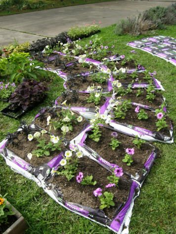 Start A Garden In Soil Bags It Really Turns Out Beautiful The End You Don T See After Mulch Goes On Top Very Eas