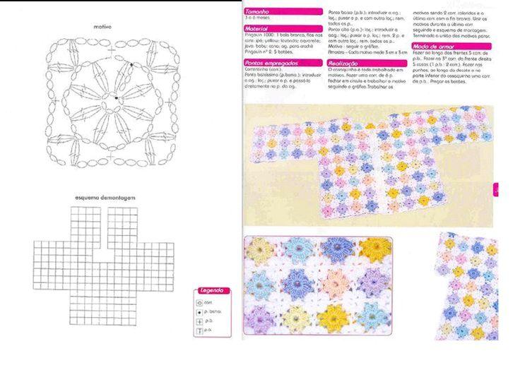 Mejores 2929 imágenes de crochet, patrones gratis en Pinterest ...