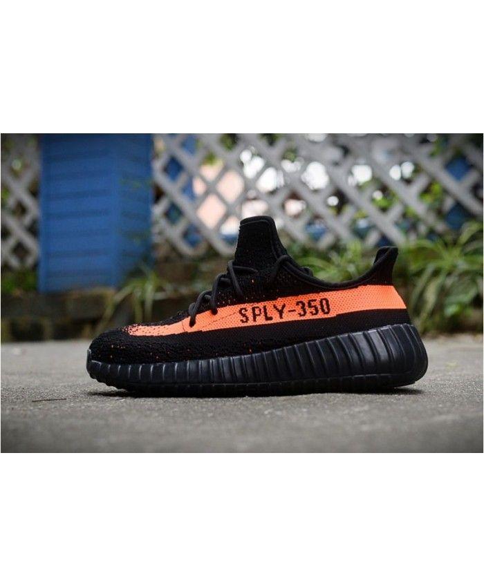 28b5a484474 Adidas Yeezy Boost 350 V2 Black Orange Trainer