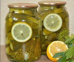 Огурчики получаются сладкие, мои детишки кушают их с удовольствием! Нам понадобится на одну банку объёмом 1 литр: Огурцы ~12 штук небольшие Тонкий кружок лимона ~~ Маринад: 0,5 литра...