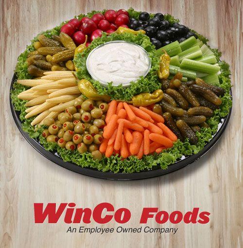 WinCo Deli Catering Prices:  Relish Tray
