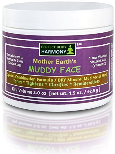 MUDDY FACE Mother Earths Blend Mineral MUD Mask DRY Clay White POWDER MIX Special Combination Formula With Trace Vitamins  Minerals Vitamin C Bentonite  Kaolin Clay 30 oz by vol Jar >>> Visit the image link more details.