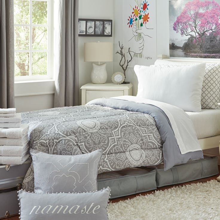Varsity Collection - Twin XL Bedding and Bath Set | Boston University Dorm Bedding and Bath | OCM.com