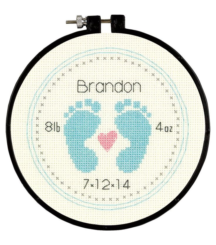 Dimensions Learn-A-Craft Baby Footprints Counted Cross Stitch Kit