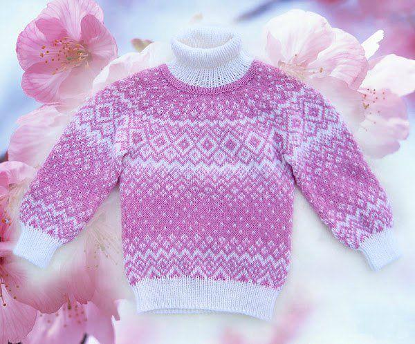 Красивые детские свитера. Схемы жаккардового узора | Домохозяйка