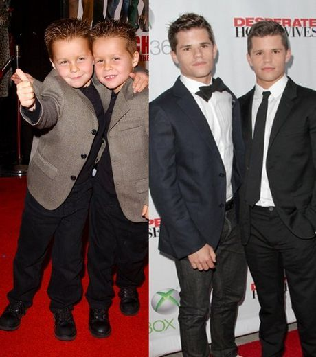 cheaper by the dozen twins all grown up... What! No they can't be grown up.