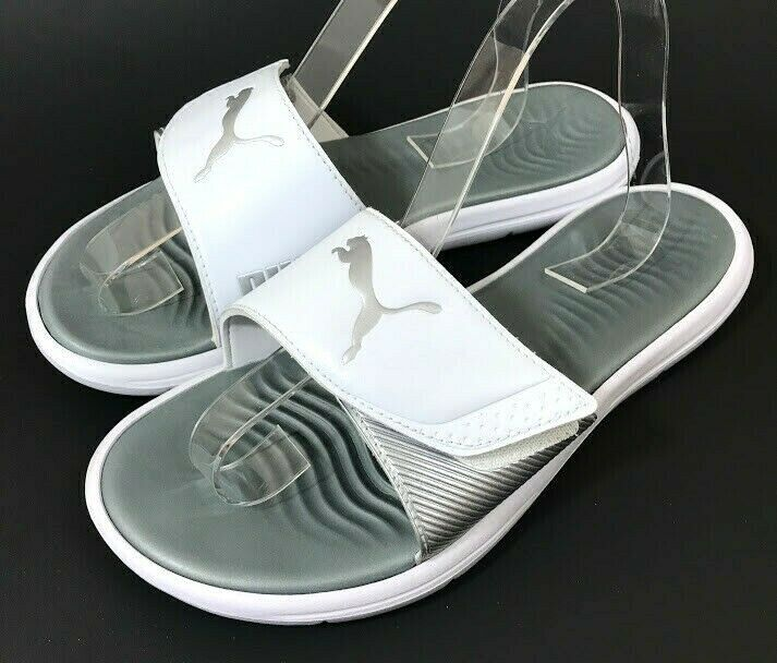 silver puma slides