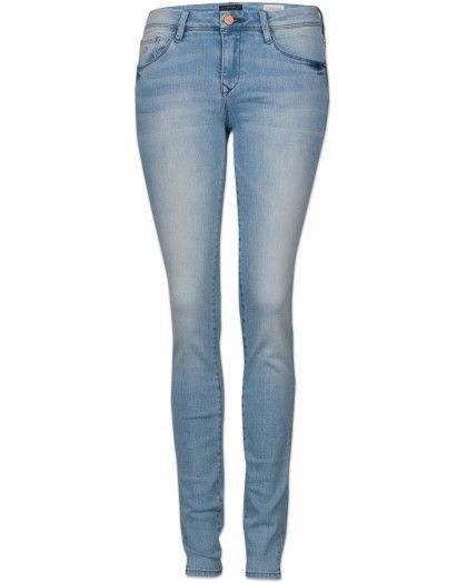 Dawn Mid Sun Shaped Damen Jeans hellblau