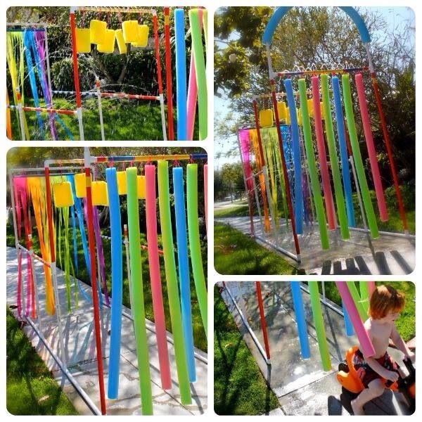 Colourful outdoor EYFS area