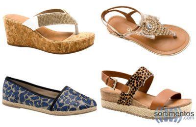 nova coleção de calçados azaleia rasteirinhas e com salto plataforma