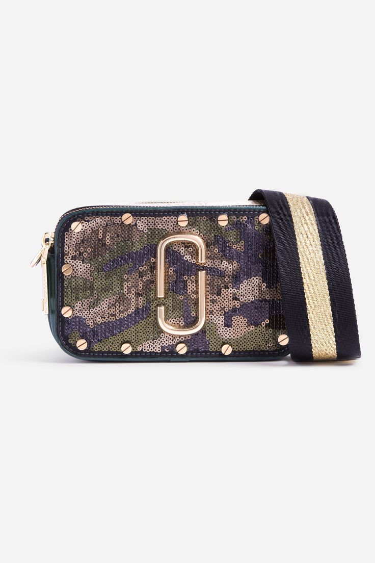 Sequins Camo Snapshot - Army Multi