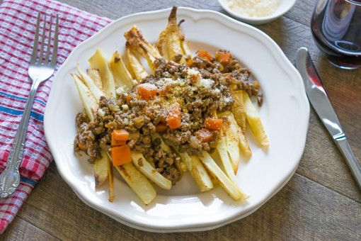 Oven Roasted Parsnips with Beef Bolognese 1