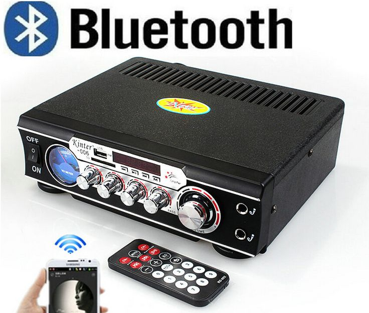 New Hot Sale Publisher 12V / 220 amp 12V Car Bluetooth USB / SD / MMC Card Best HiFi Digital Radio AV Amplifier Consumer Electronics