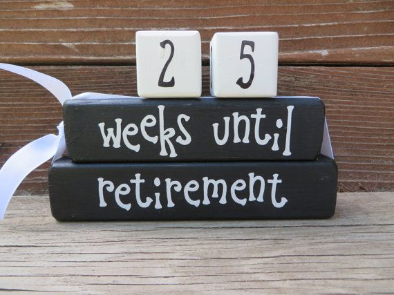 Retirement Countdown Blocks by DaisyBlossomCreation on Etsy, $15.99