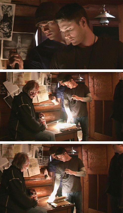 [gifset] Jensen and Jared BTS Season 1. #SPN #Jensen #Jared