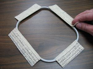 Dont' get caught #OutOfBounds When working with nylon & other slippery fabrics.. Embroidery hooping tip with rubber shelf liner... link for more info:    http://www.emblibrary.com/EL/elprojects/Projects.aspx?cs_productid=pr1433