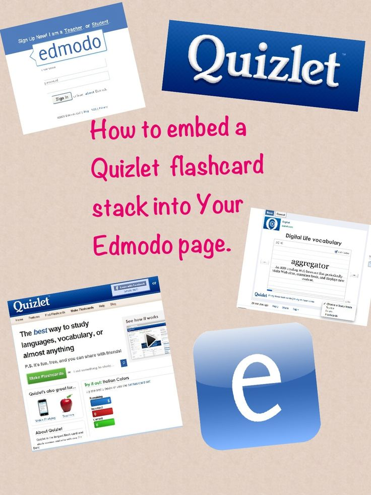 How to Embed a Quizlet Flashcard Stack Into Edmodo - you know I love anything having to do with Quizlet!