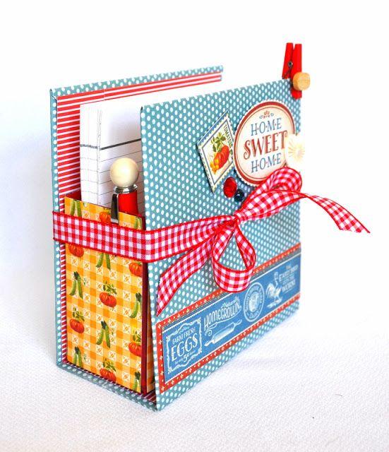 Oi queridas!     Minha vez de apresentar um PAP !!     Além da coleção Home Sweet Home da Graphic 45 , usei uma caixa de sabão em...