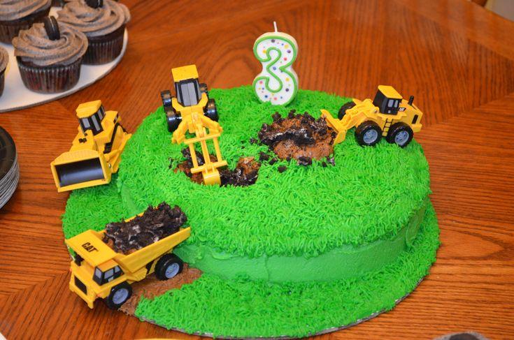 CAT tractor birthday cake
