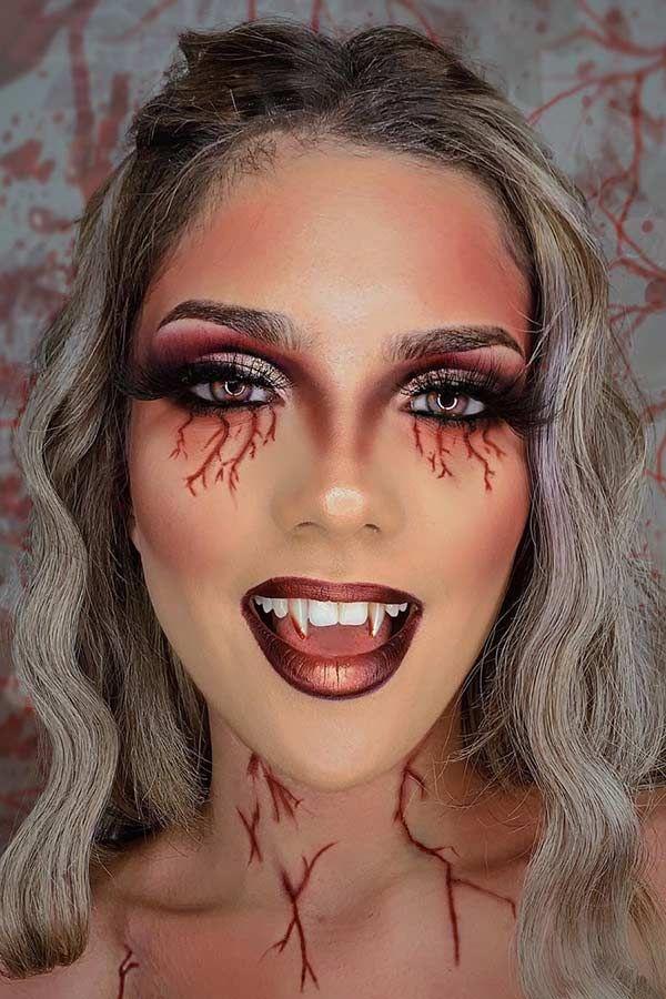 Vampire Halloween Makeup 2020 23 Vampire Makeup Ideas for Halloween 2020   StayGlam in 2020