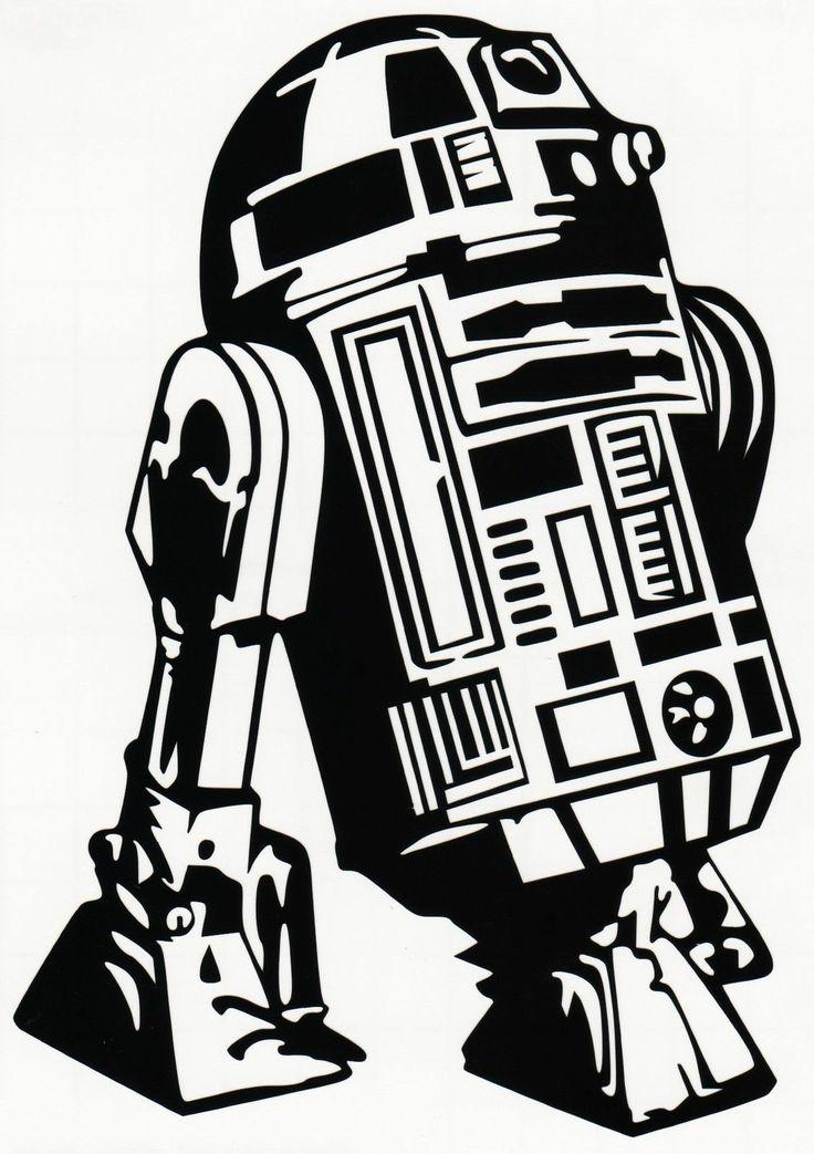 R2d2 Star Wars Return Of The Jedi Vinyl Decal Sticker Car