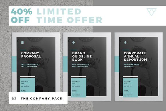 Company Brochure Pack by Egotype on @creativemarket
