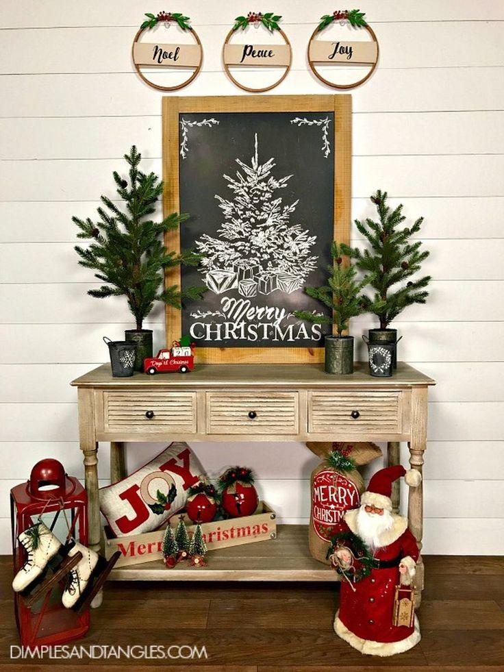 Freedom Furniture Christmas Tree Part - 35: Incredible Rustic Farmhouse Christmas Decoration Ideas 56