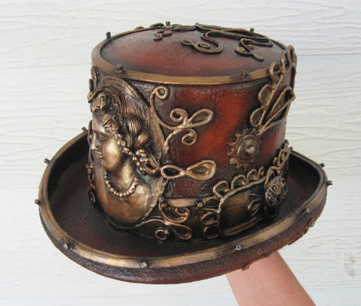 sublime steampunk top hat with cameos