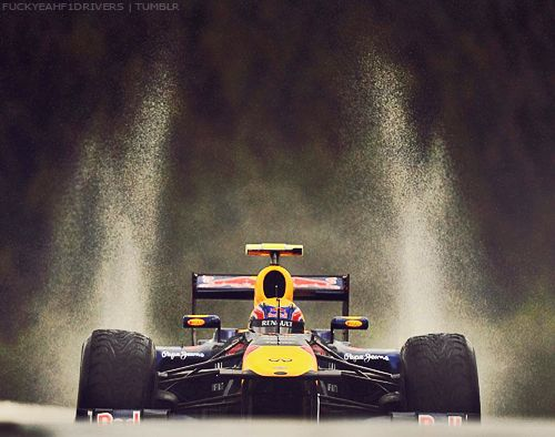 Mark Webber, Red Bull F1 Racer~ Impressive shot of a race car. This is the same kinda photo I love to take of motorcycles. Is a bit risky, but such a rush when ur doing it & when ur get that perfect shot!!! Nice Job Mark!!!